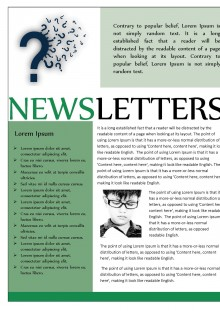 Green Themed Newsletter