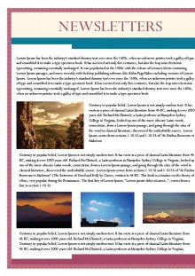Nature Theme Newsletter