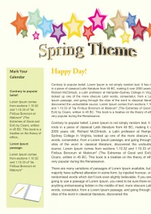 Spring newsletter template