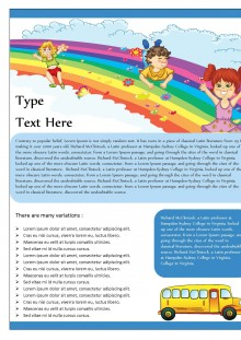 Rainbow Themed School Bus Newsletter
