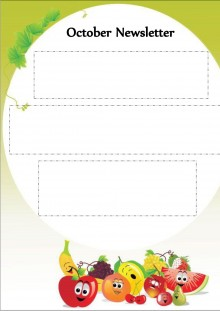 October Newsletter - Fruits and Vegetables Theme