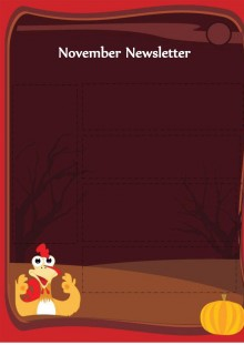 November Newsletter - Thanksgiving Template - Dark Theme
