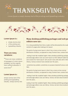Thanksgiving Newsletters for any occasion