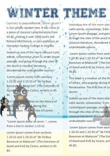 Winter Newsletter Template - Newsletters for winter