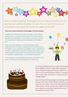Newsletter Template for Birthday Celebration