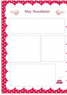 May Newsletter Template - Pink Theme