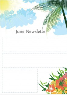 June Newsletter Template - Summer Theme