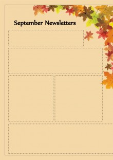September Newsletter -Autumn Leaf Theme